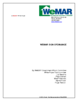 WeMAR Sign Ordinance