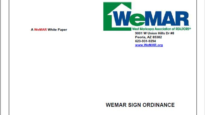 WeMAR Sign Ordinance White Paper