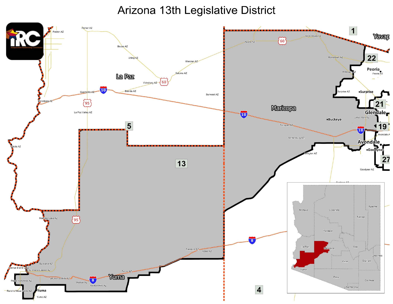 Map Of Arizona Legislative Districts.Ld 13 Has A New State Senator And A New State Representative